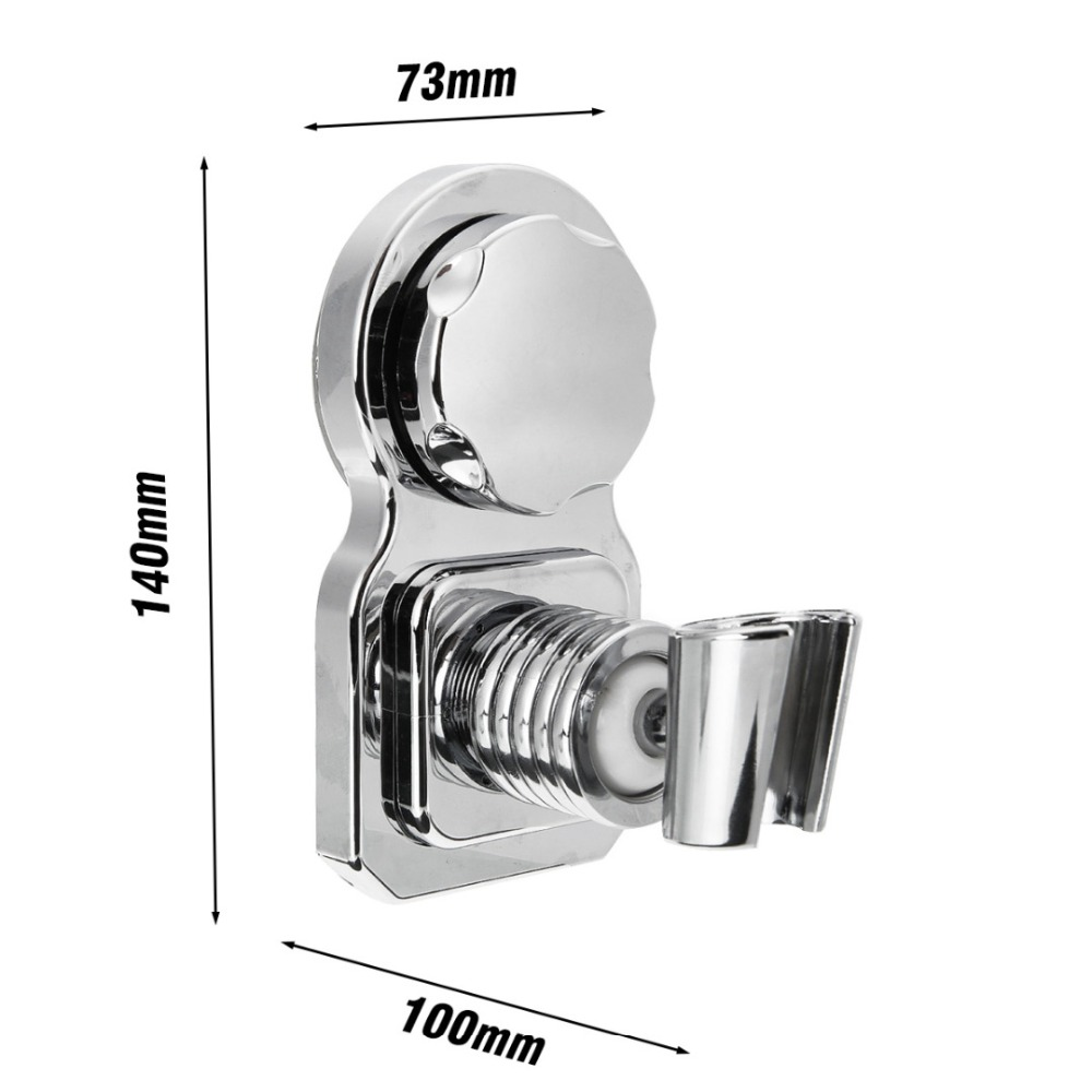 Movable Bathroom Shower Head Holder With Wall Mounted Suction