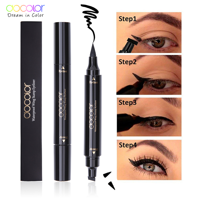 Objective New Sexy Waterproof Double Head Black Wing Shape Eyeliner Stamp Seal Eyeliner Pencil Cat Eye Cosmetic Makeup Tool Wing Style Back To Search Resultsbeauty & Health