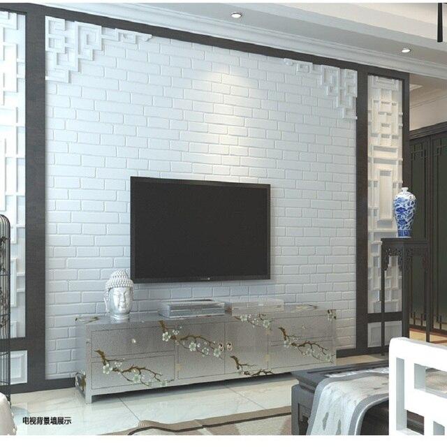 US $25.42 15% di SCONTO|Carte Da Parati di Vendita caldo Classico Moderno  3D Bianco Muro di Mattoni Rotolo di carta Per Soggiorno camera Da Letto ...