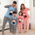 Прекрасный обезьяна пижамы семьи соответствующие наряды мультфильм семья комплект одежды мать и дочь отец и сын одежда FF05