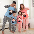Lovely Monkey Pajamas Family Matching Outfits Cartoon Family Clothing Set Mother and Daughter Father and Son Clothing FF05