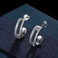 Luxury brand реплика стерлингового серебра 925 ювелирных изделий женщины цирконий двигаться серьги праздновать любовь, messika серьги девушки подарки