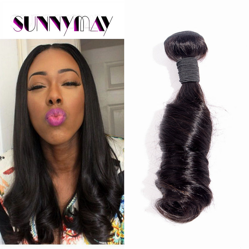 7A Unprocessed Sunnymay Hair In Stock Peruvian Virgin Hair Extension Human Braiding Hair Bulk Funmi Curly Weaves Machine Weft