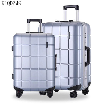 KLQDZMS 20/24inch Aluminum frame rolling luggage wear-resistant ABS+PC Ultralight trolley suitcase travel bag on wheels
