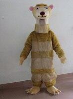 Lớn màu nâu meerkats lông linh vật trang phục