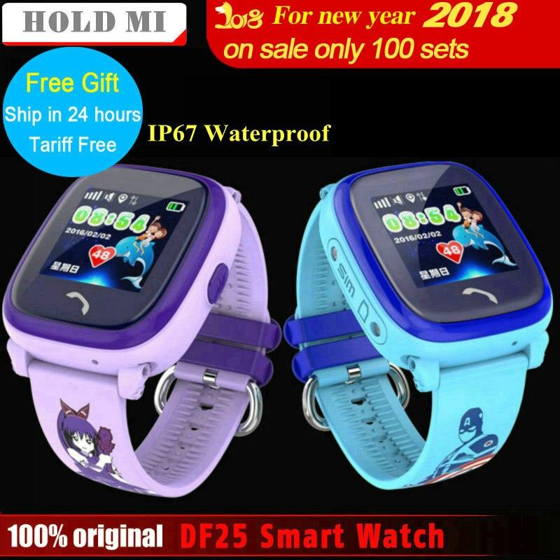 Удерживайте Ми водонепроницаемый DF25 ребенок Смарт-часы PK Q60 GPS умный ребенок SmartWatch SOS вызова расположение устройства tracker анти- потерянный мо...