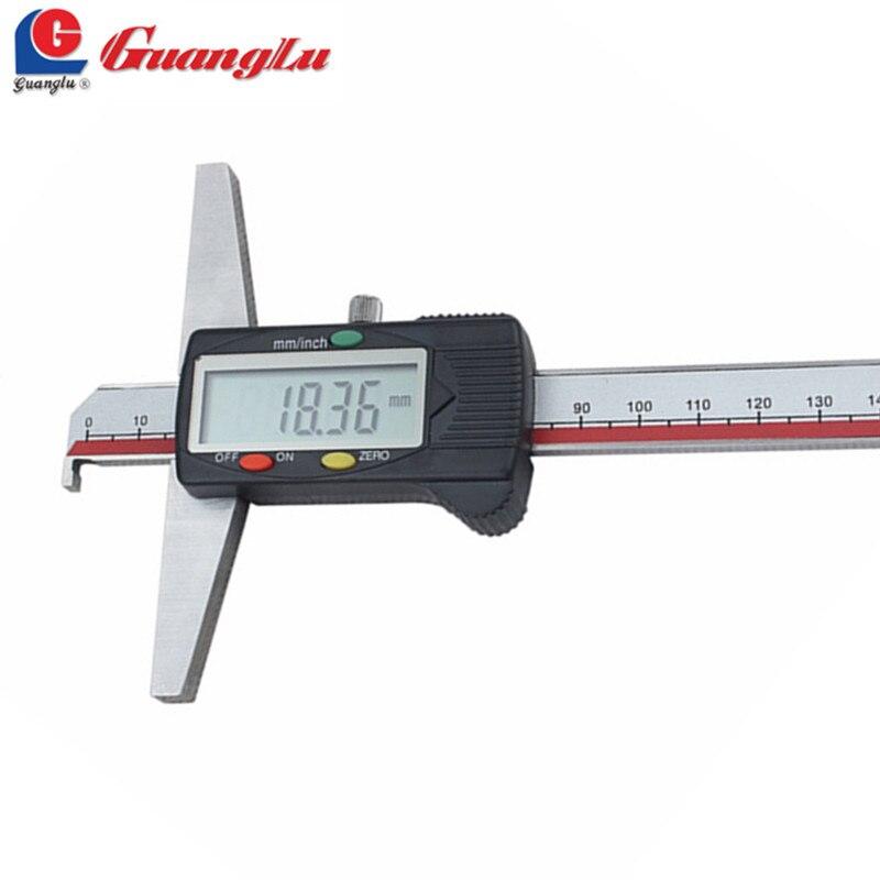 GUANGLU Digital Caliper Depth Gage 0 150/200/300mm Single Hook Type Electronic Ruler Measurement Instruments Measuring Tools