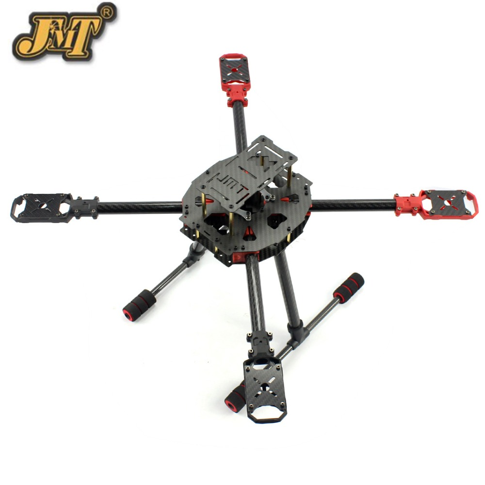 JMT DIY Mini J630 Carbon Fiber 4-axle Foldable Rack Frame Kit for Helicopter RC Airplane Quadcopter Kits Spare Parts jmt j510 510mm carbon fiber 4 axis foldable rack frame kit with high tripod for diy helicopter rc airplane aircraft spare parts