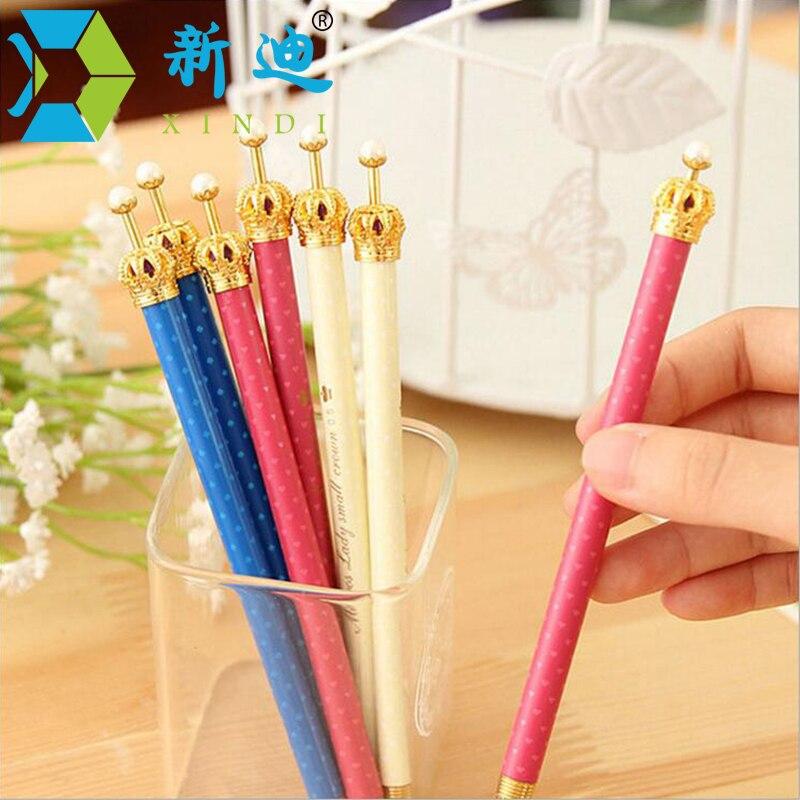 2018 Lytwtw'S Korean Cute Kawaii Crown Rhinestones Pen Advertising Creative  School Office Stationery Gel Pens Girl From Caley, $24.48 | Dhgate.Com