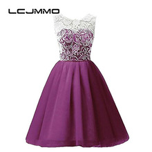 LCJMMO 4-12Y Teenage Clothes Lace Girls Dresses Multi-color Sleeveless Floral Chiffon Party Costume Princess for Kids Clothes