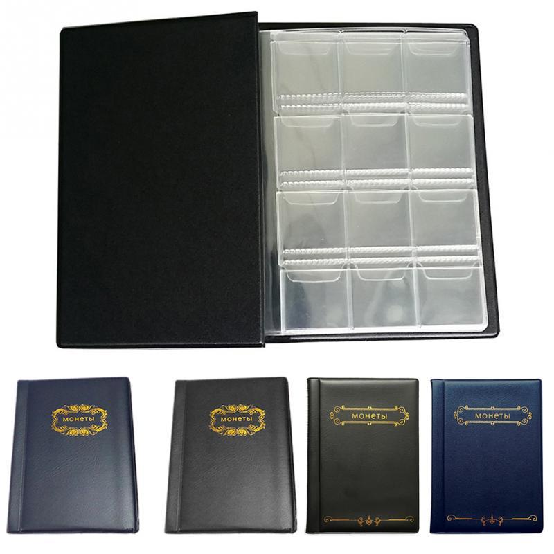 Álbum para colecionadores de moedas, fichário para armazenamento de moedas, medalhões, livro, coleção especial de desenhos, tampas, centavos, moedas, dinheiro, 120
