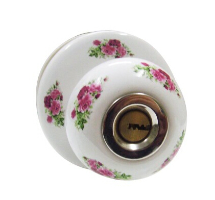 Ceramic lock the door when indoor European ball lock hold hand lock copper core S-030