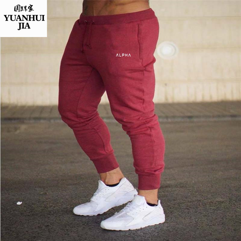 Mens Brand Sweatpants fashion Leisure gyms Workout Fitness sportswear Pants Elastic cott ...