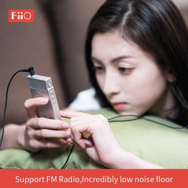 FiiO Metal Case M7 Bluetooth 4.2 aptX-HD LDAC Hi-Res Touch Screen LCD Mini Music MP3 play with FM Radio(Black/Red/Blue/Silver) 5