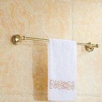 European Roman Towel Rack Antique Brass Gold Single Towel Bar Wall Mounted Towel Rack 60cm For Bathroom Improvement