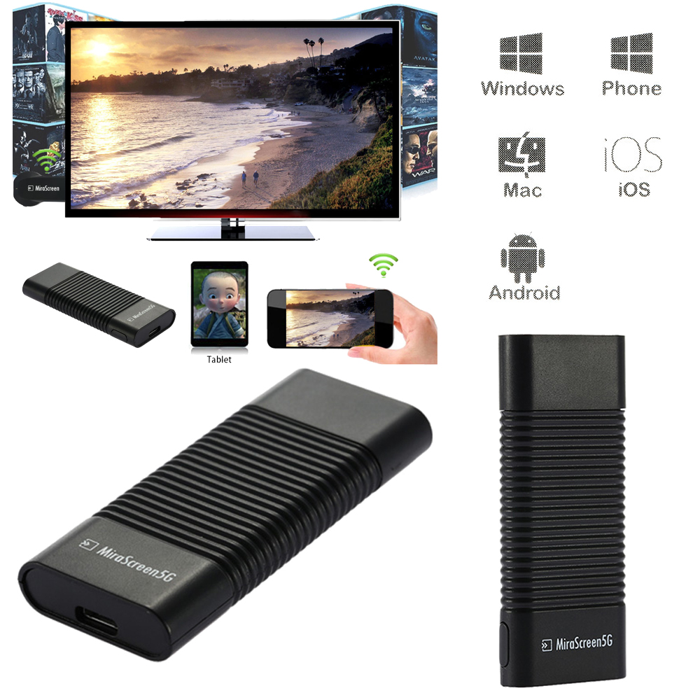 11.11 mirascreen 2.4g/5g, haute Vitesse Affichage sans fil hdmi TV Dongle Miracast 5g Airplay wifi adaptateur hdmi Air Miroir tv bâton
