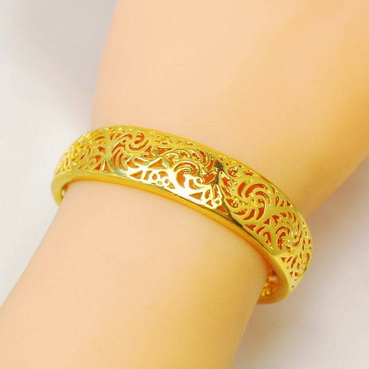 glossy bracelets in bangle shop open plated charming handmade hollow ancient bangles item carved hongkong customs gold from quality jewelry