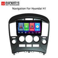 Lecteur multimédia de voiture Android 8.1 pour Hyundai H1 2010-2014 dispositif de Navigation GPS support de commande de volant bluetooth