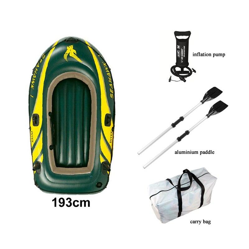 Canot pneumatique de sport gonflable 1 personne bateau gonflable en PVC bateau de pêche kayak 3 chambre à Air pompe à air paddle extérieure A06004