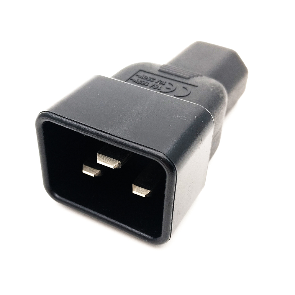Free shipping IEC 320 C14 to C20 angled adapter,C19 to C13 AC Plug convert adapter,IEC PLUG Converter Adapter #WPT605 free shipping iec 320 c14 to saa australia 3 pin female power adapter for pdu ups ac plug converter wpt604