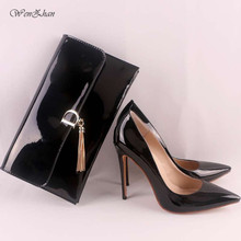 WENZHAN Women's High Heels Women Sexy Pumps With Handbag,Thin Heel Pointed Toe Match Women Gripesack Apply For Any Occasion11-30