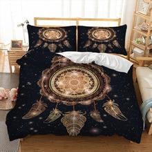 Gold color Dreamcatcher duvet cover Bedding set quilt Cover Bed Set 3pcs