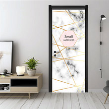 3D simulation door sticker Marble Removable waterproof PVC self-adhesive wallpaper living room DIY decoration