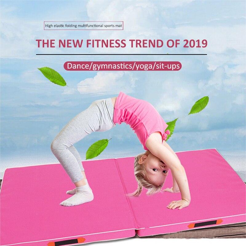 120/100cm épaissi Oxford tissu l pliant danse supine tapis de gymnastique formation yoga flip mat