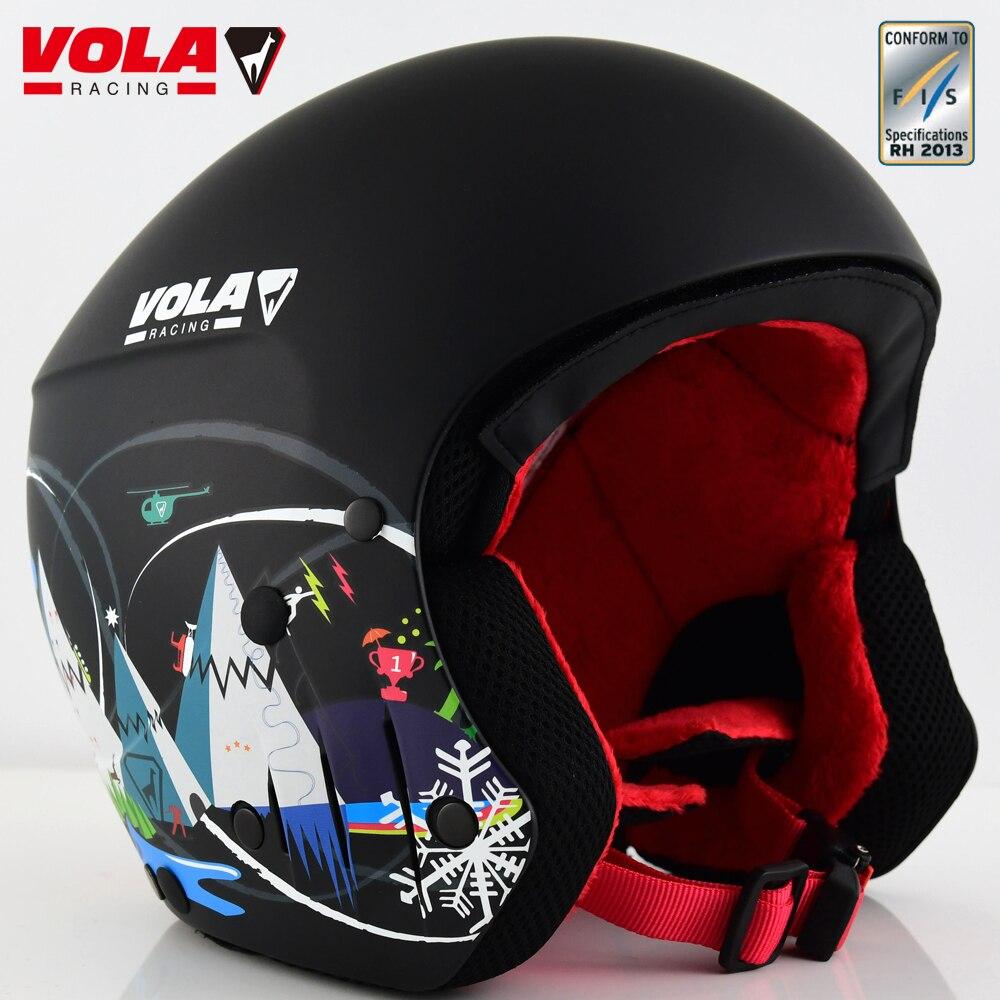 VOLA 2017 nouveau design adulte FIS casque de Ski certificat CE ASTM entièrement moulé avec google retenue amovible Padd Comfotable