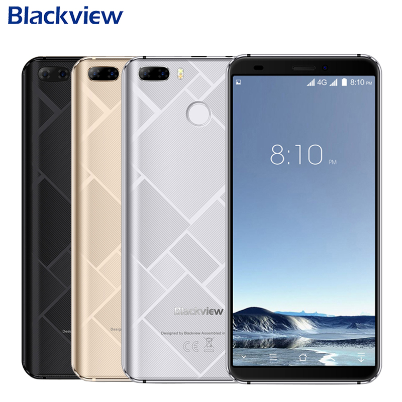 Original Blackview S6 Cell Phone 5 7 inch 18 9 HD Full Sceen 2GB 16GB MT6737VWH