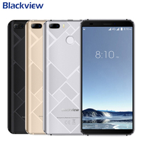 Original Blackview S6 Cell Phone 5.7 inch 18:9 HD+ Full Sceen 2GB+16GB MT6737VWH Quad Core Android 7.0 Dual Back Cams Smartphone