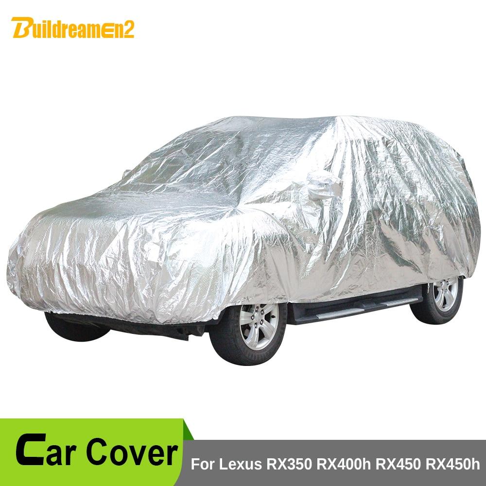 Buildreamen2 bâche de voiture étanche pare-soleil neige pluie poussière rayures grêle housse de protection pour Lexus RX350 RX400h RX450 RX450h