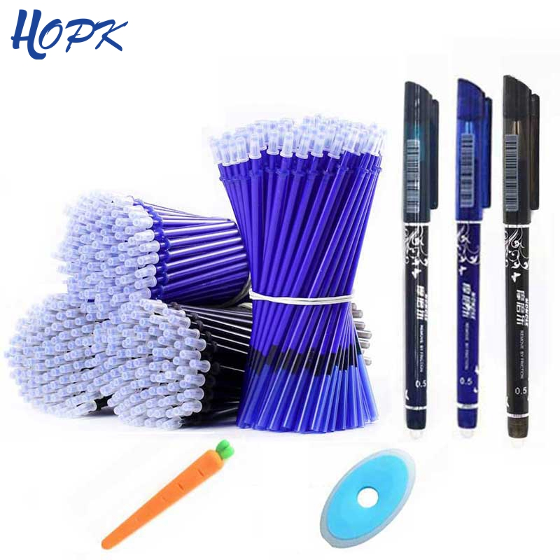 12/20Pcs Washable Handle Gel Pen Set For Erasable Pen Refill Rod Magic Gel Pens 0.5mm Blue Black Ink School Writing Stationery