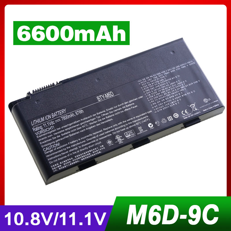 9cells Laptop Battery For MSI BTY-M6D E6603 GT60 GT660 GT663 GT670 GT680 GT680DX GT683 GT685 GT70 GT760 GT780 GT783 GX660 GX60 цена
