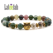 Lateelah New Fashion Cat Eye Stone Bracelet Natural Male Lot Handmade Gift