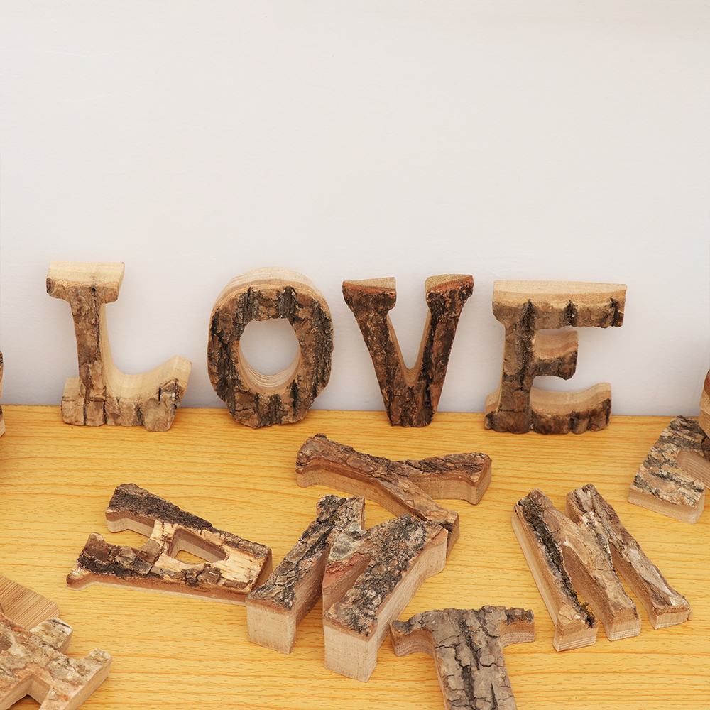 DIY Wooden Letters Crafts Alphabet Art Decoration For Retro Wood Wall Decor Bar Pub Office Wedding Party Vintage Home Decoration