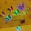 5 pcs novidade glowing borboleta noite lâmpada led fundo luz adesivo noite para crianças Nightlights romântico de Parede Decorativos para Casa