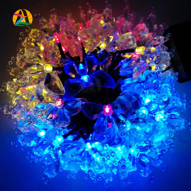 2017 10 m 60 leds Decoração Do Feriado. solares Luzes LED String Casamento Festa de Casamento Decoração Do Jardim Ao Ar Livre Iluminação À Prova D' Água