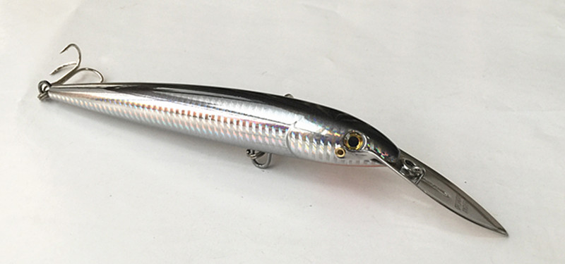 18cm 65g Sea Fishing Lure Professional Fishing Tackle Stainless Steel Lip Floating Type Deep Dive Bait