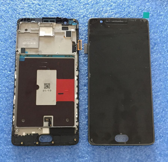 LCD screen display+touch digitizer with frame For oneplus three oneplus 3 A3000 A3003 EU version white/black free shipping