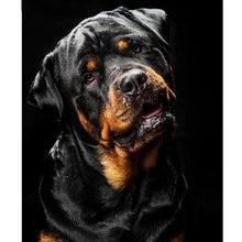 Алмазная картина Ротвейлер Собака полная квадратная Алмазная вышивка ПЭТ вышивка крестиком Алмазная мозаика, стразы для домашнего декора