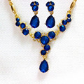 New Arrival Blue Jewelry Set Angel Eyes Drop Brithday Gifts Austrian Crystal Pendant Necklace Earrings Jewelry Sets