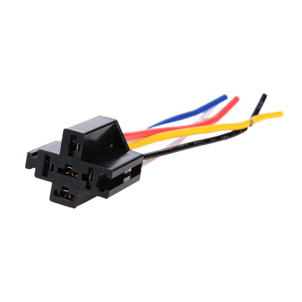Pre Wired 5 Pin Connector Clamp Type Relays 18awg Relay 12v Mounting Base Relay Socket Holder