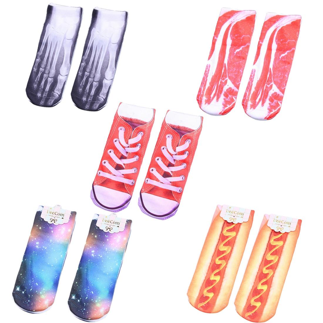 Hallowee Kawaii   Socks   New Short Boat   Sock   Happy Pair   Socks   Funny Skeleton Meat Cartoon Men Women Colorful Ankle