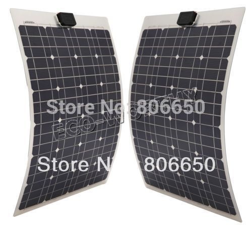 80w 2x40w 12V semi-flexible solar panel kits for boat RV camping car &Free shipping# * sp 36 120w 12v semi flexible monocrystalline solar panel waterproof high conversion efficiency for rv boat car 1 5m cable