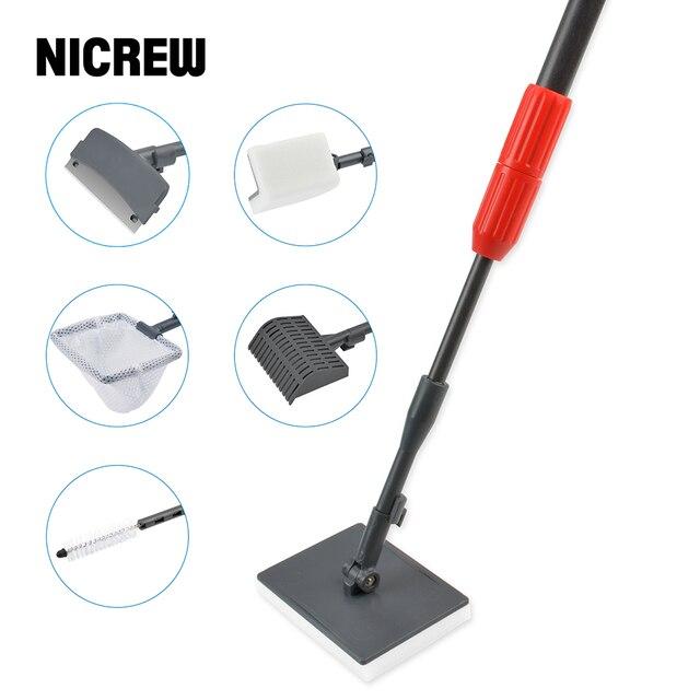 NICREW cepillo 6 en 1 para acuario, rascador de algas para acuario, Kit de herramientas de limpieza, accesorios de limpieza para peceras