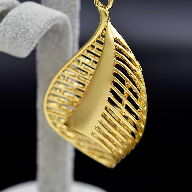 Sunny Schmuck Erklärung Schmuck 2019 Halskette Hängen Ohrringe Anhänger Für Frauen Schmuck Sets Aushöhlen Wasser Tropfen Für Party