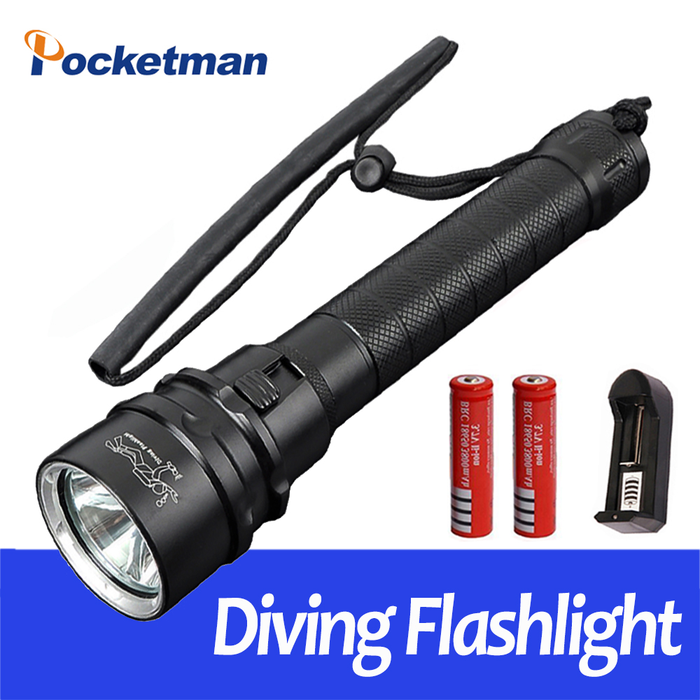12000lumens Professional Diving Flashlight Torch 3xCREE XML-T6 Underwater 3T6 LED Flash Light with 18650 Battery and Charger supfire d6 160m underwater professional explosion proof strong diving led light flashlight grade exibii bt4 by 18650 battery