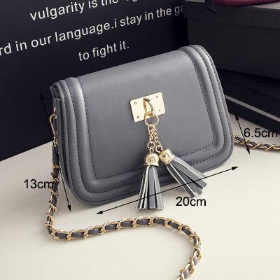 Luxury Women Leather Handbags Chain Clutch Messenger Bags Brand Designer Vintage Cross Body Bags Korean Fringe Crossbody