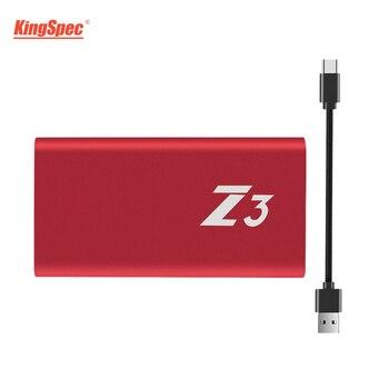 KingSpec Portable 64GB SSD Z3-64 Type-c USB3.1 External Hard Drive Gen1(5GB/S) HD SSD Externo USB Disco Duro Solido Externo Disk